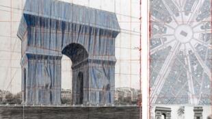 Christo Arc de Triomphe Wrapped