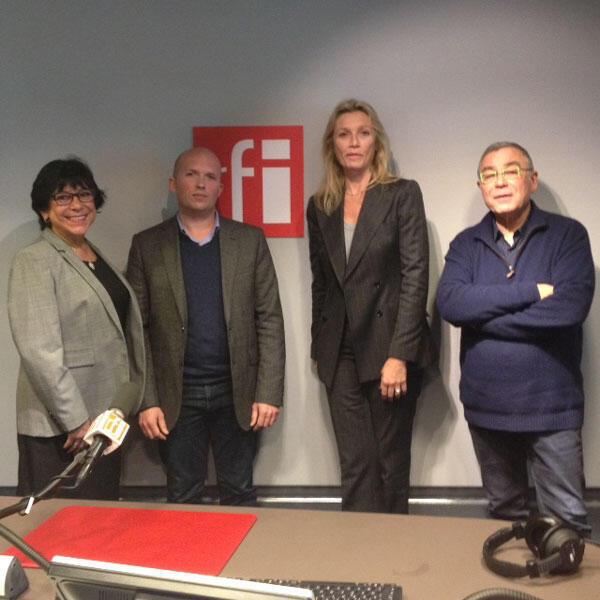 Zeina El Tibi, Maxime Forest, Pascale Joannin (directrice de la Fondation Robert Schuman) et Daniel Desesquelle.