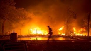 Một cảnh hỏa hoạn ở Napa, California. Ảnh 9/10/2017.