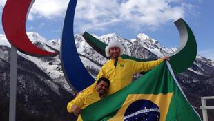 Fernando Aranha (esq.) e Andre Cintra levam o Brasil aos Jogos Paralímpicos de Sochi.
