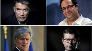 Les quatre candidats qui briguent la tête du PS: Olivier Faure, Emmanuel Maurel, Stéphane Le Foll, Luc Carvounas.