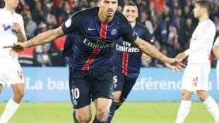 L'attaquant Zlatan Ibrahimovic, lors du match PSG/Olympique de Marseille, le 4 octobre 2015.