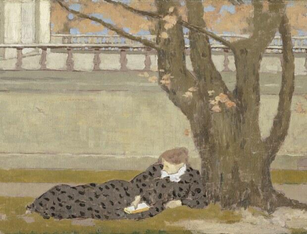 """""""تراس"""" اثر """"کِر اگزاویه روسل"""" نقاش فرانسوی قرن نوزده و بیست"""