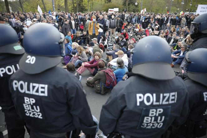 Manif anti-confinement en Allemagne
