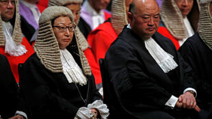 2018年1月8日,在中国香港,首席大法官马道立和律政司司长郑秀文出席纪念法律年度开始的仪式。