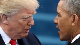 Barack Obama và Donald Trump, trong ngày chuyển giao quyền lực, 20/01/2017 tại Washington.