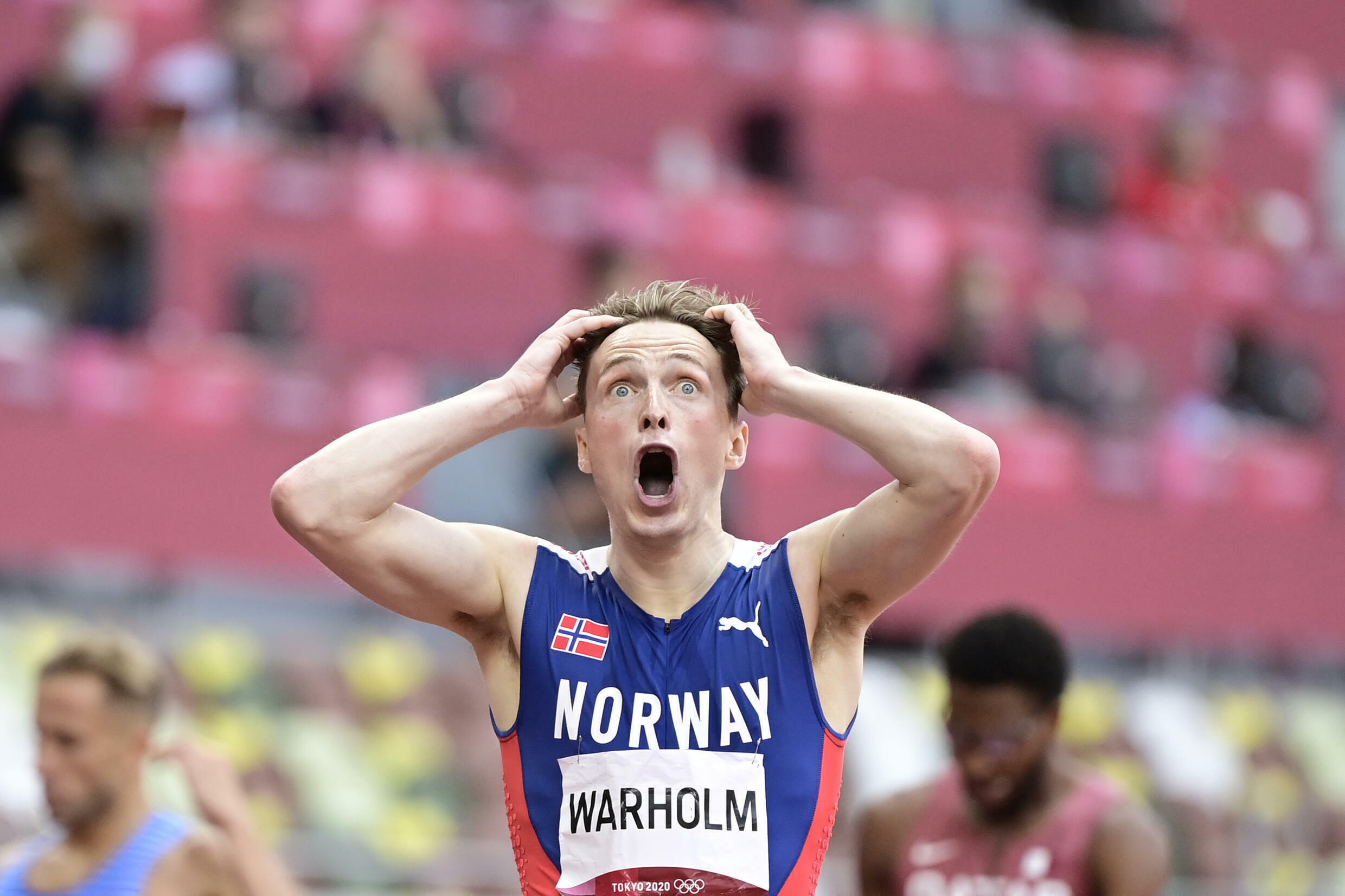 Norway's Karsten Warholm obliterated his own world record to win 400m hurdles Olympic gold