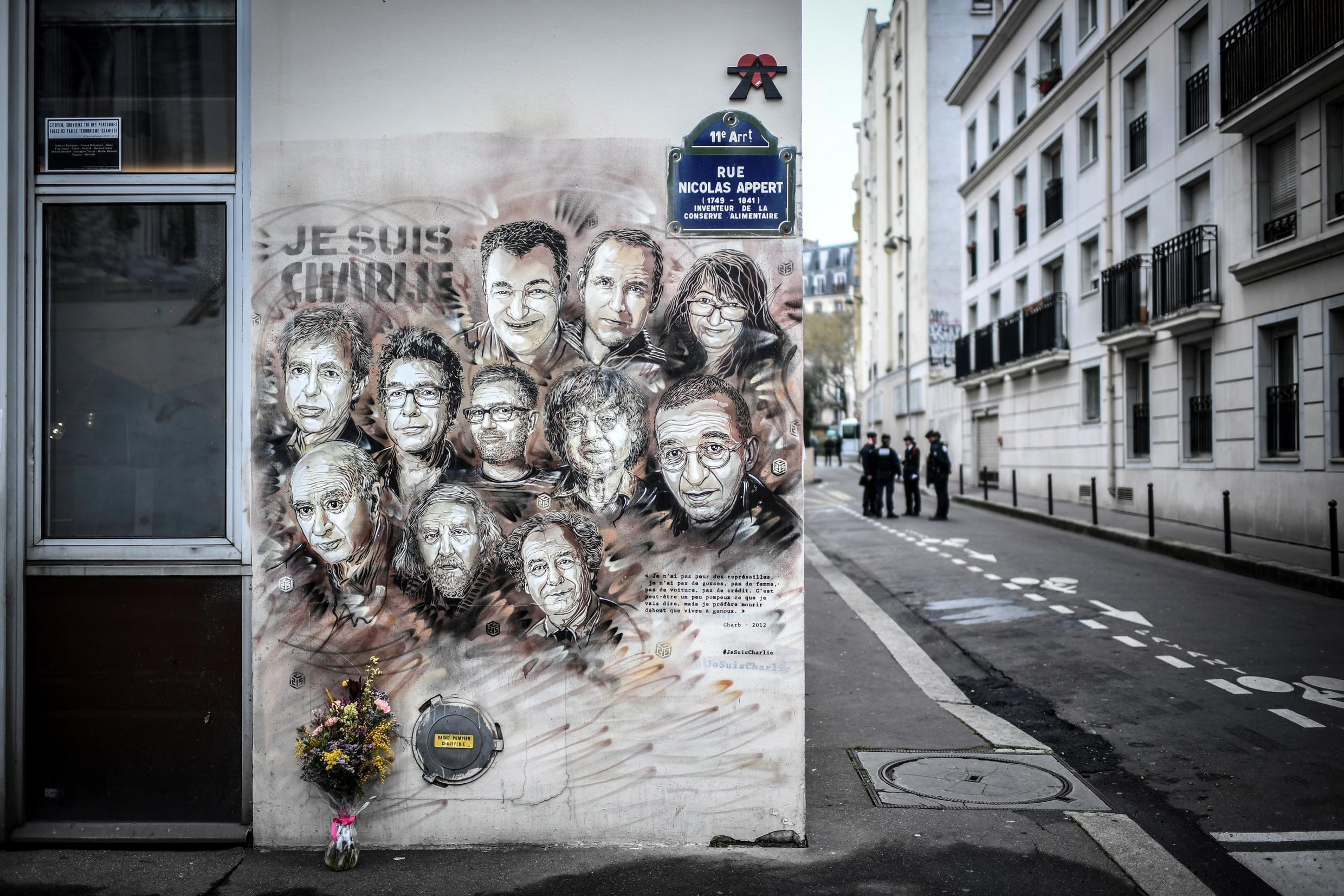 The street where Charlie Hebdo journalists and cartoonists were gunned down at their offices in 2015 was the scene of a new knife attack on 25 September 2020