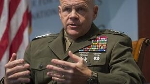 Chỉ huy trưởng lực lượng Thủy Quân Lục Chiến, tướng Robert Neller phát biểu tại Trung Tâm Nghiên Cứu Chiến Lược Quốc Tế (CSIS), Washington, ngày 25/01/2018..