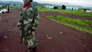 Soldat de l'armée congolaise, dans la région de Virunga, le 8 mai 2012.