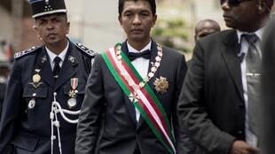 Le président malgache Andry Rajoelina, le 19 janvier 2019 lors de son intronisation.