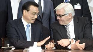 李克强与德国外长在汉堡峰会