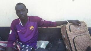 Jeune Soudanais demandeur d'asile à Agadez au Niger.