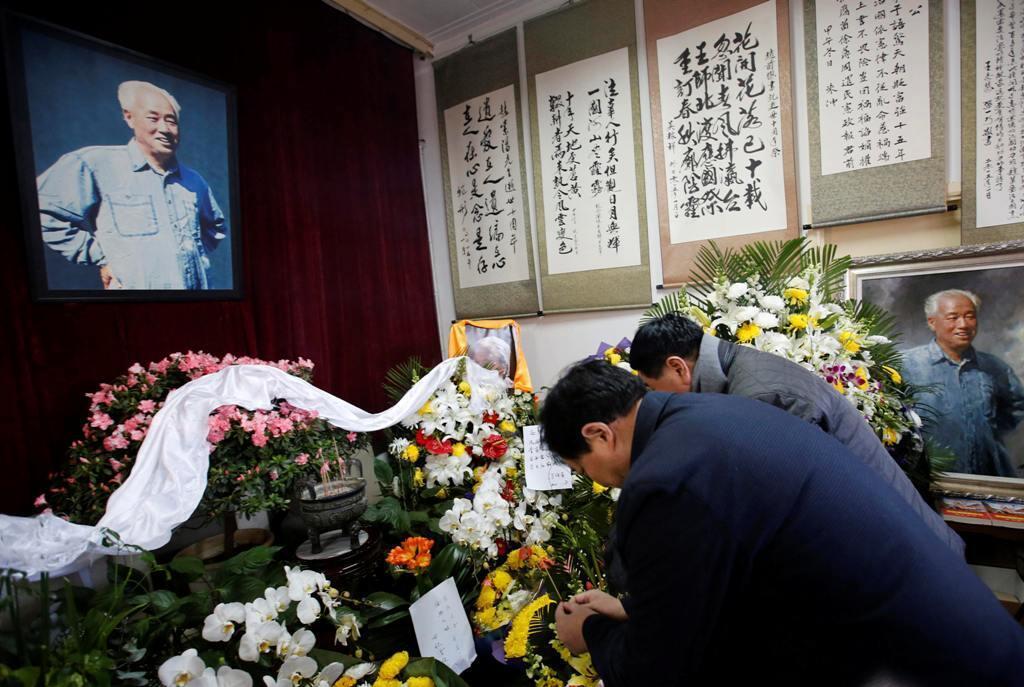 Cảnh chụp tại nhà ông Triệu Tử Dương,ở bắc Kinh nhân ngày giổ 10 năm ông qua đời- Ảnh  17/01/ 2015.