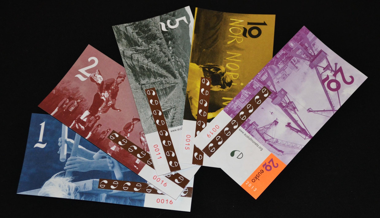 """A """"euskal moneta"""", nova moeda social basca, que entra em circulação nesta quinta-feira, 31 de janeiro de 2013."""