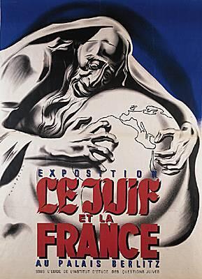 Афиша выставки «Евреи и Франция», сентябрь 1941.
