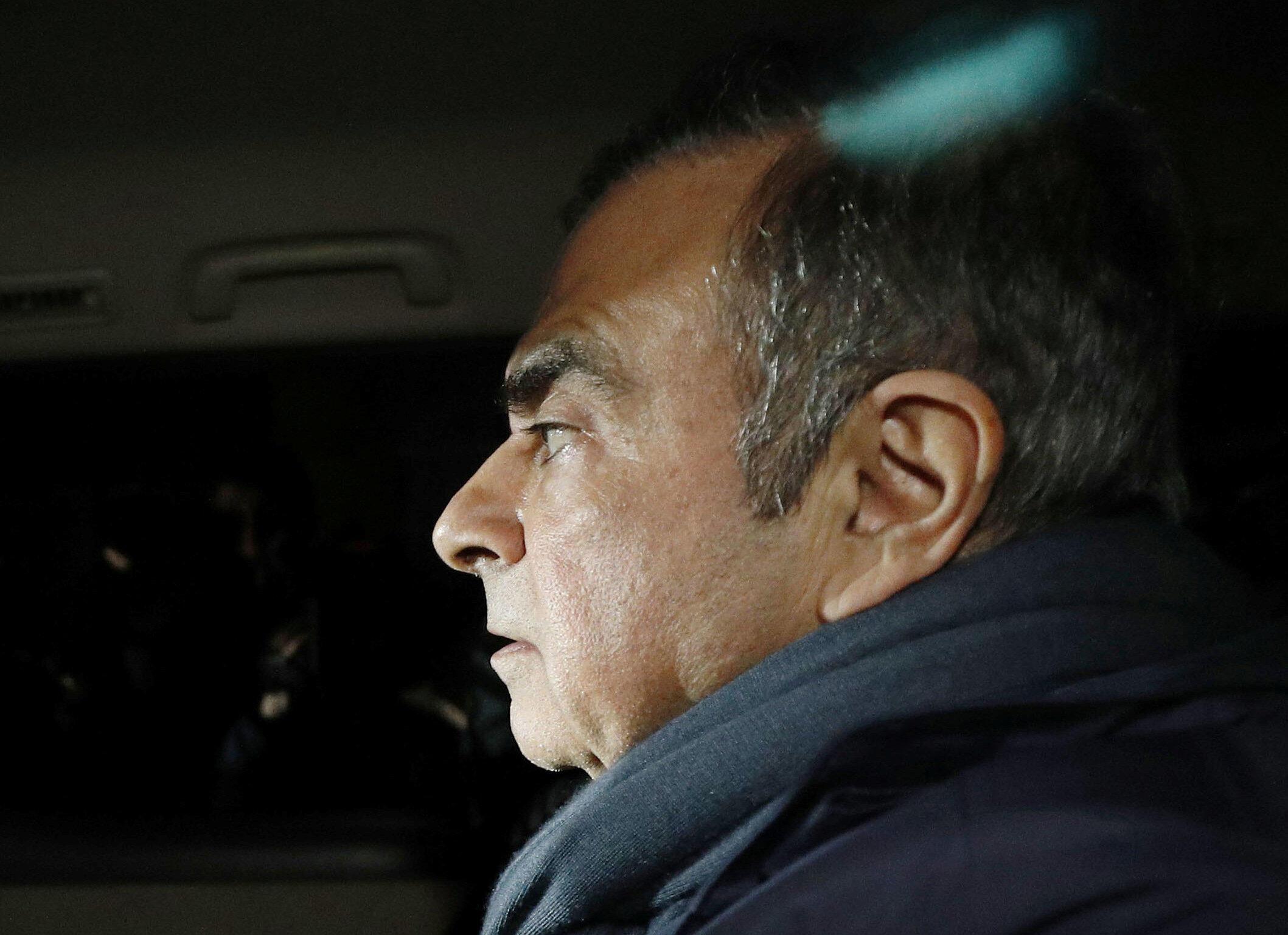 O ex-presidente da Renault e da Nissan, Carlos Ghosn, no passado mês de Abril em Tóquio.