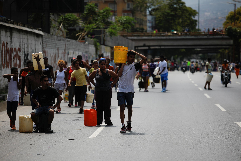 Caracas, luego de un corte de agua generalizado.