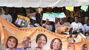 RHDP - banderole - Côte d'Ivoire
