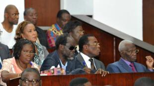24 mois de prison ont été requis contre Pascal Affi N'Guessan (2e à droite), dont l'avocat estime que les dossiers sont vides.