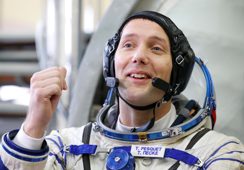 Le spationaute français Thomas Pesquet, membre du prochain équipage à se rendre à bord de l'ISS, le 17 novembre. Cité des étoiles, le 25 octobre 2016.