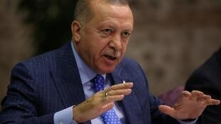 Turkish President Recep Tayyip Erdogan, keeping the pressure on dissenting voices.