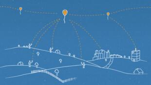 Cada globo puede proporcionar conectividad a un área terrestre de aproximadamente 40 kms de diámetro mediante una tecnología de comunicación inalámbrica llamada LTE.