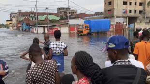 IMAGE Nouvelles inondations dans la ville de Kinshasa, en RDC, le 16 mars 2021.