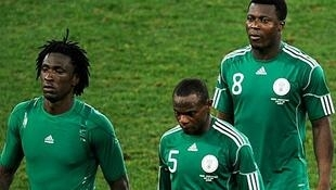 Members of Nigeria team during the World Cup