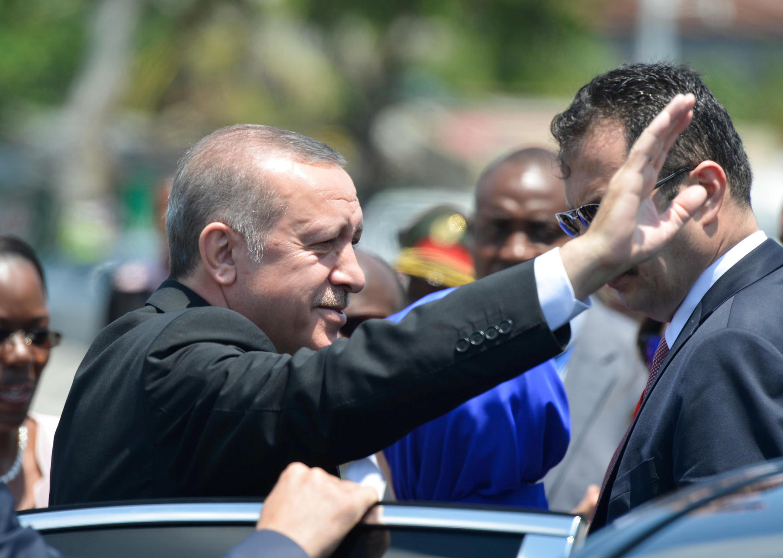 Le président Erdogan est en tournée en Afrique de l'Est, ici lors de sa visite au Mozambique le 24 janvier 2017.