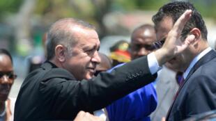 Presidente turco Erdogan em Moçambique a 24 de Janeiro de 2017.