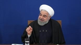 Le président iranien Hassan Rohani lors d'une conférence de presse à Téhéran, le 16 février 2020.