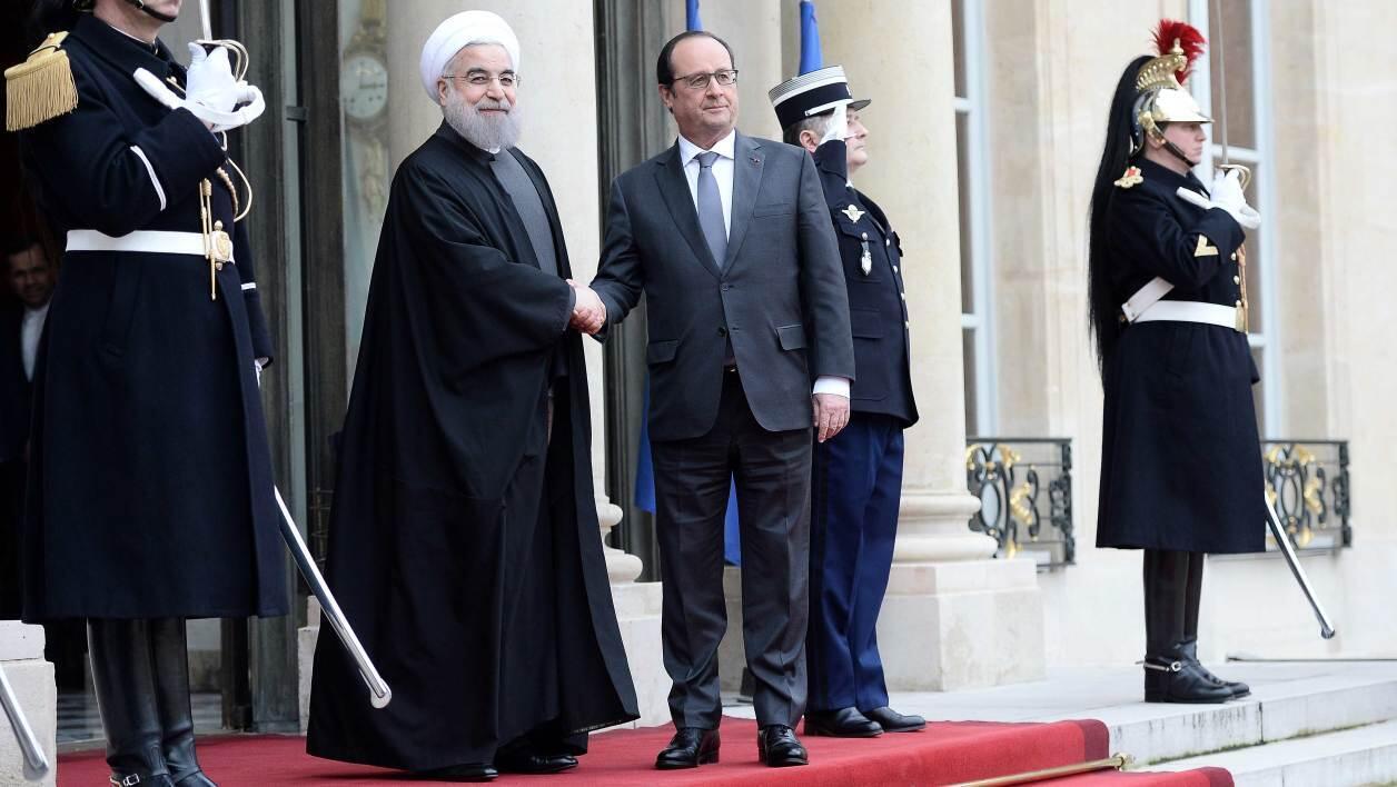 حسن روحانی و فرانسوا هولاند، عکس آرشیوی