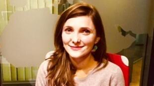 Andreea Badea, en studio à RFI (novembre 2018).