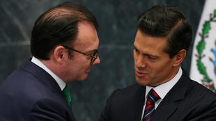 Enrique Peña Nieto y el exsecretario de Hacienda Luis Videgaray, este 7 de septiembre de 2016 en Ciudad de México.