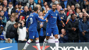Ruben Loftus-Cheek (right) scored Chelsea's opening goal against Watford following a pass from Eden Hazard (left).