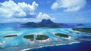 圖為西沙群島一處海景