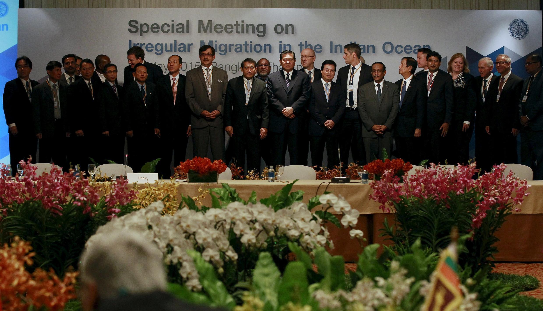17 quốc gia đã tụ họp ở Bangkok, Thái Lan để họp bàn về vấn đề khủng hoảng thuyền nhân Rohingya và Bangladesh, ngày 29/05/2015.