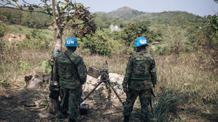 UN peacekeepers from Rwanda monitor rebel groups north of Bangui, the capital of the Central African Republic, in December 2020