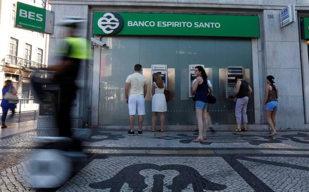 Uma agência do Banco Espírito Santo em Lisboa.