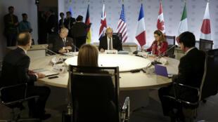 وزرای امورخارجه هفت کشور صنعتی جهان (گروه هفت)، در بیانیه پایانی نشست خود در فرانسه بار دیگر نسبت به «فعالیتهای بیثباتکننده ایران در منطقه، به ویژه ادامه حمایت این کشور از سازمانهای تروریستی و شبهنظامیان مسلح» شدیدا ابراز نگرانی کردند.