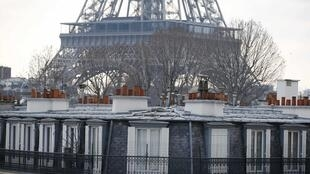 The Eiffel Tower, site of drone flights on Monday and Tuesday nights