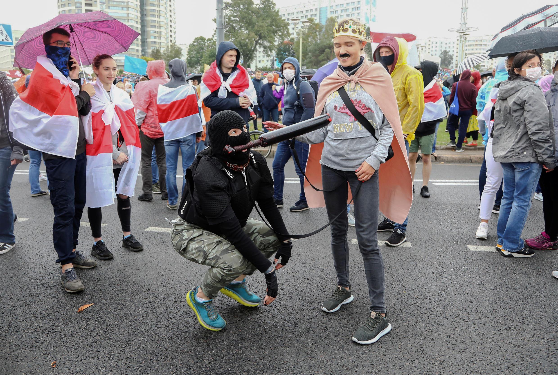 Протестный марш в Минске 27/09/2020
