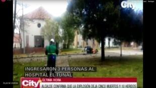 El presunto coche bomba explotó dentro de las instalaciones de la Escuela de Policía General Santander, en Bogotá.