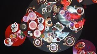 展覽讓大家了解中國人從古至今重視飲食,從帝王的宴請,祭祖的儀式都與飲食有關,而且菜的名字有象徵的意義