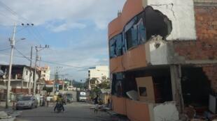 Vista de Pedernales tras el terremoto de magnitud 7,8.