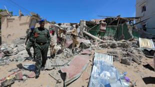 Les attentats à la voiture piégée sont fréquents à Mogadiscio (ici, le 17 mai 2017). Ils sont le plus souvent menés par les insurgés islamistes shebabs.