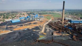 Vue aérienne de la Générale des carrières et des mines à Lubumbashi.