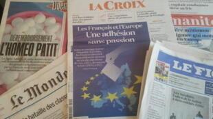Primeiras páginas dos jornais franceses de 15 de maio de 2019