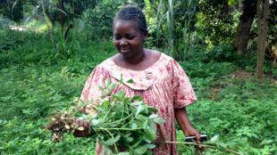 Meraline Donko, president of Sala Naita, a small farming NGO in Bangui, CAR.